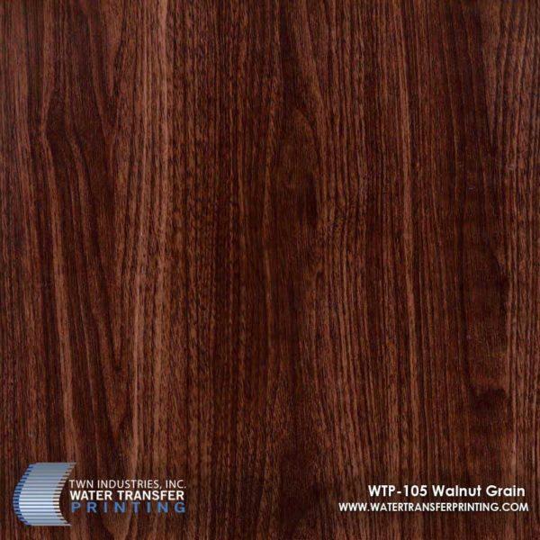 WTP-105 Walnut Grain Hydrographic Film
