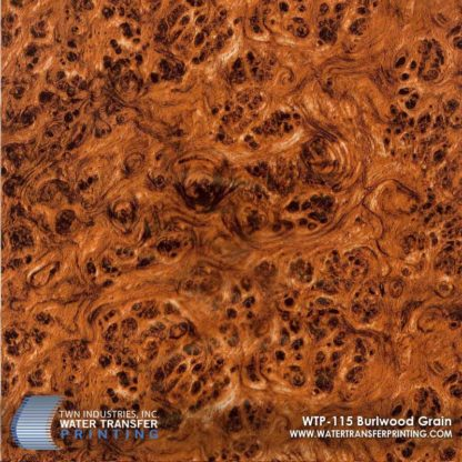 WTP-115 Burlwood Grain Hydrographic Film