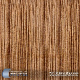 WTP-124 Brown Stripe Grain Hydrographic Film
