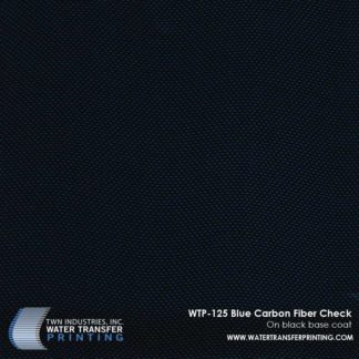 WTP-125 Blue Carbon Fiber Check Hydrographic Film