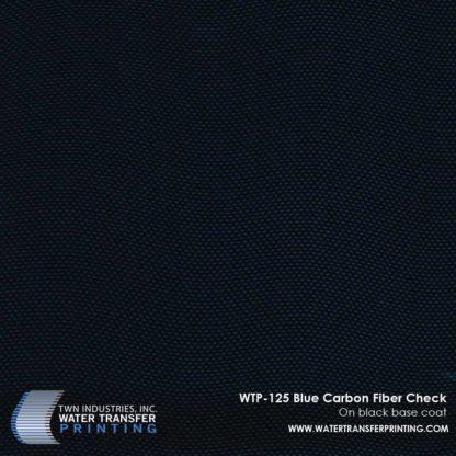 WTP-125 Blue Carbon Fiber Check Hydrographic Film