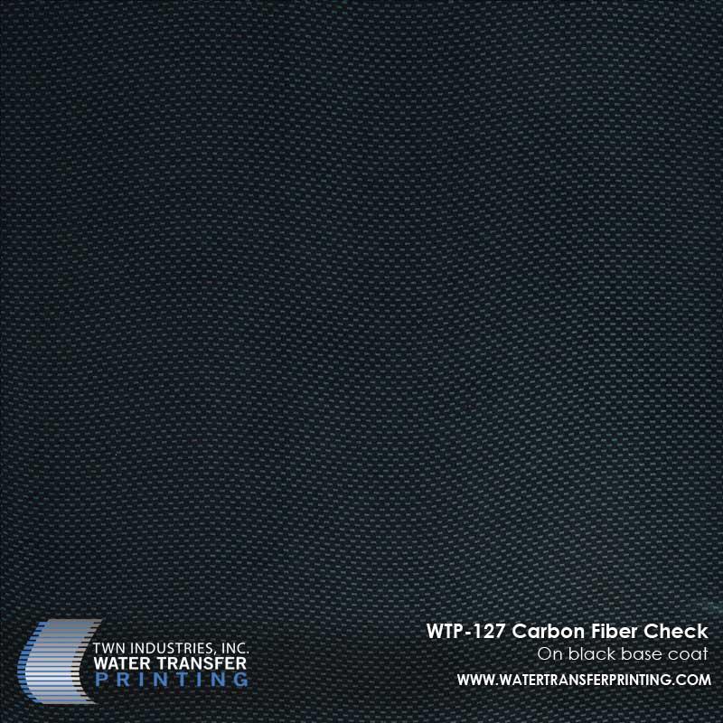 WTP-127 Carbon Fiber Check Hydrographic Film