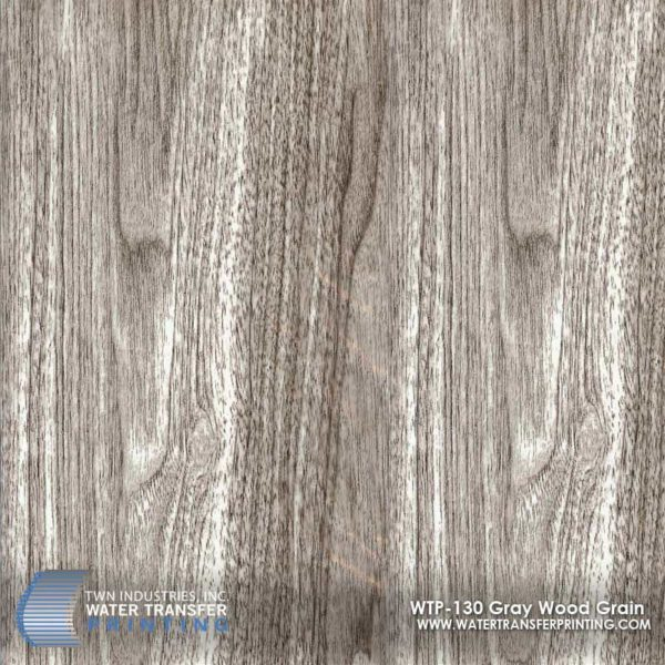 WTP-130 Gray Wood Grain Hydrographic Film