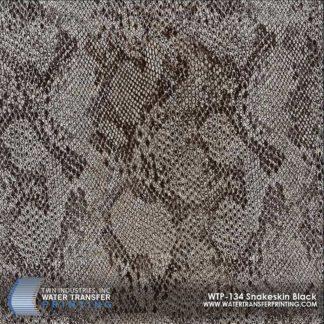 WTP-134 Snakeskin Black Hydrographic Film