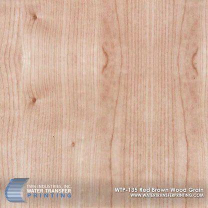 WTP-135 Red & Brown Wood Grain Hydrographic Film
