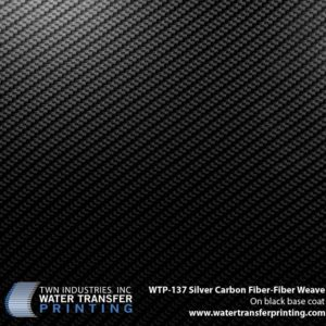 WTP-137 Silver Carbon Fiber Weave Hydrographic Film