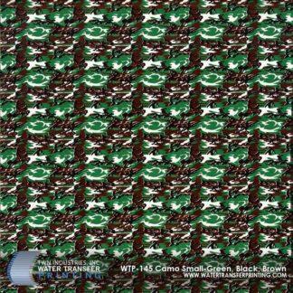 WTP-145 Camo Small-Green, Black, Brown Hydrographic Film