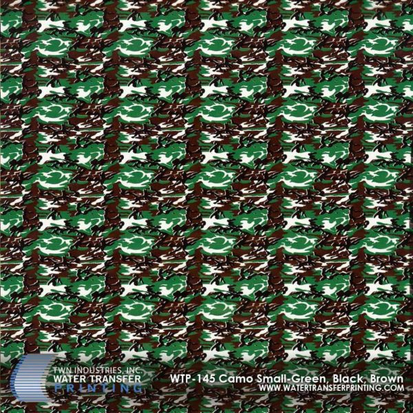 WTP-145 Camo Small-Green, Black, Brown Hydrographic Film