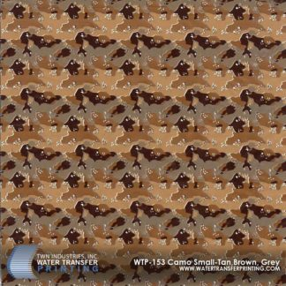 WTP-153 Camo Small-Tan, Brown, Grey Hydrographic Film