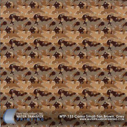 WTP-153 Camo Small-Tan, Brown, Grey Hydrographic Film