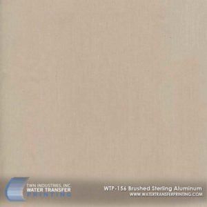 WTP-156 Brushed Sterling Aluminum Hydrographic Film