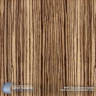 WTP-166 Zebrano Grain Hydrographic Film