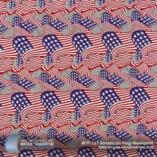 WTP-167 American Flag Newsprint Hydrographic Film