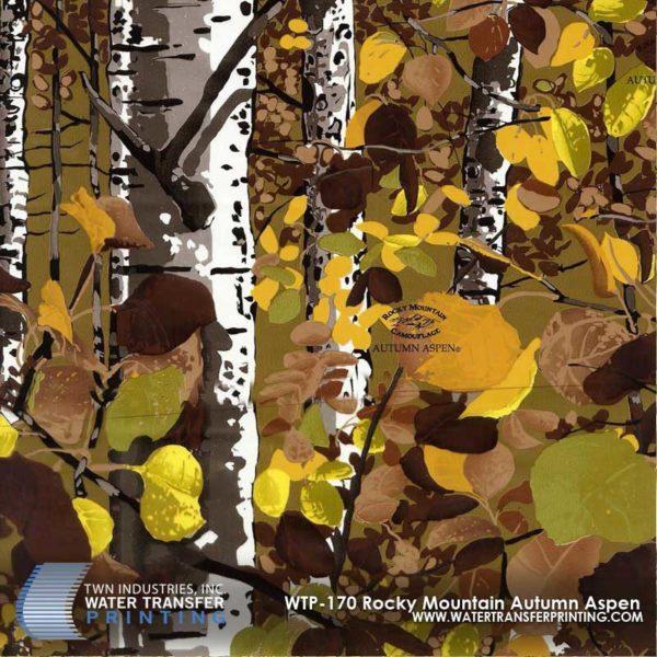 WTP-170 Rocky Mountain Camo Autumn Aspen Hydrographic Film