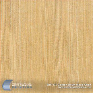 WTP-176 Golden Brown Wood Grain Hydrographic Film