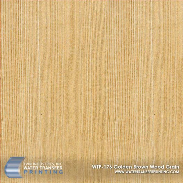 WTP-176 Golden Brown Wood Grain Hydrographic Film