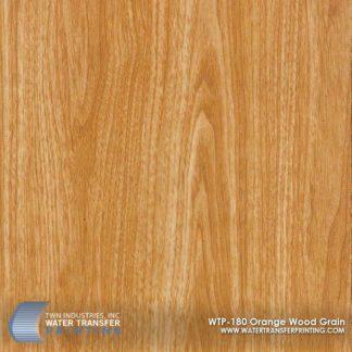 WTP-180 Orange Wood Grain Hydrographic Film