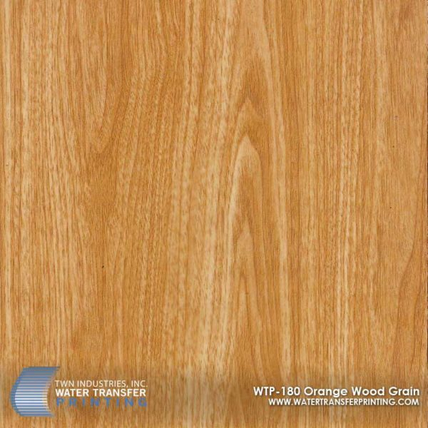 WTP-180 Orange Wood Grain Hydrographic Film
