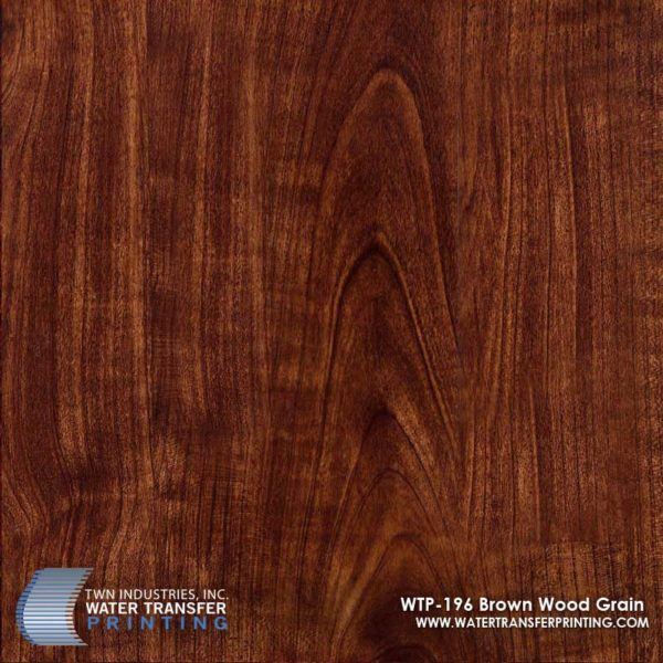 WTP-196 Brown Wood Grain Hydrographic Film