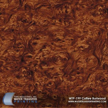 WTP-199 Coffee Burlwood Hydrographic Film