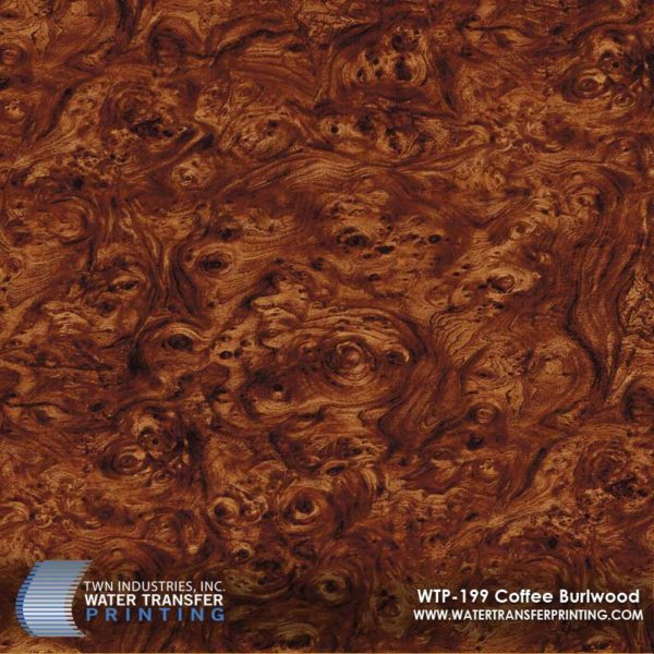 WTP-199 Coffee Burlwood Hydrographic Film
