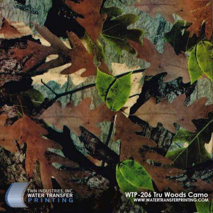 WTP-206 Tru Woods Camo Hydrographic Film