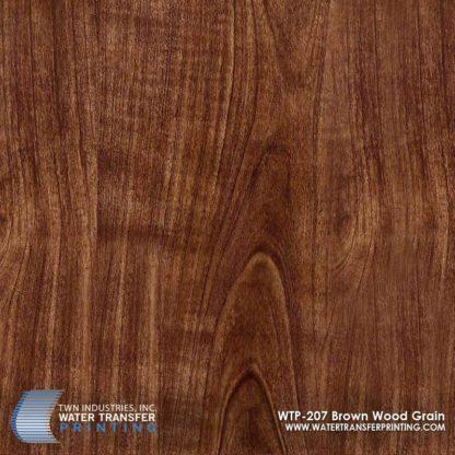 WTP-207 Brown Wood Grain Hydrographic Film