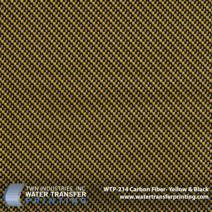 WTP-214 Carbon Fiber Yellow & Black Hydrographic Film