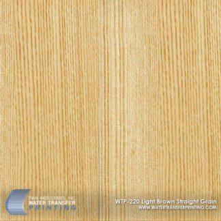 WTP-220 Light Brown Straight Grain Hydrographic Film