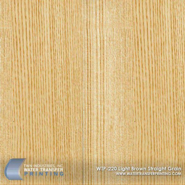WTP-220 Light Brown Straight Grain Hydrographic Film