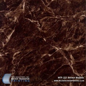 WTP-221 Brown Marble Hydrographic Film