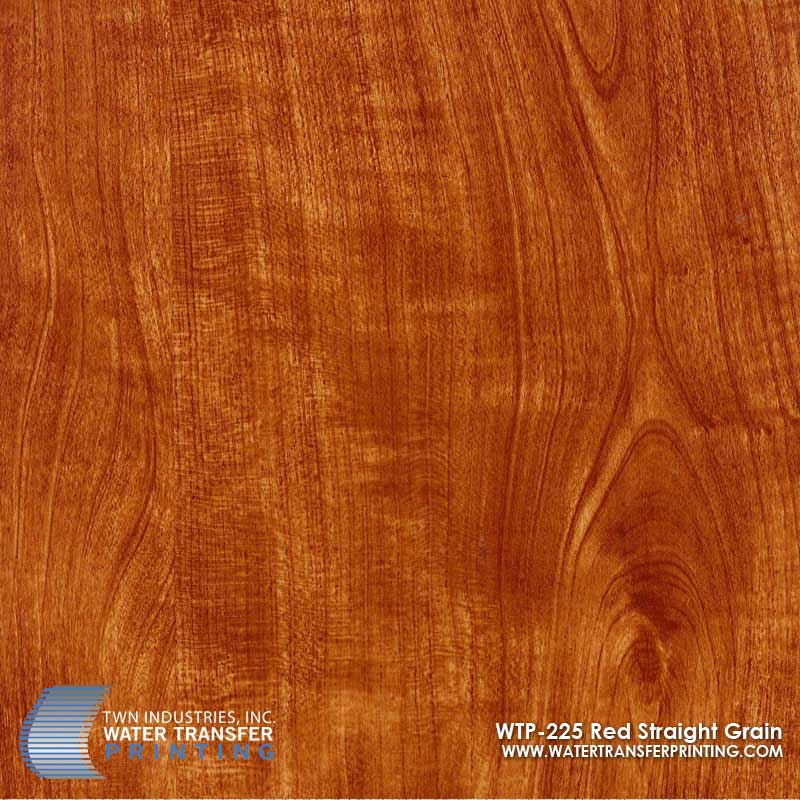 WTP-225 Red Straight Grain Hydrographic Film