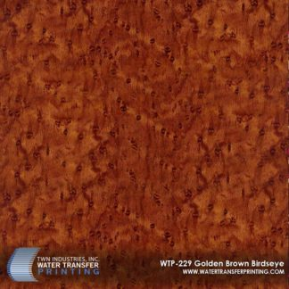 WTP-229 Golden Brown Birdseye Hydrographic Film