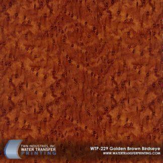 WTP-229 Golden Brown Birdseye Hydrographic Film