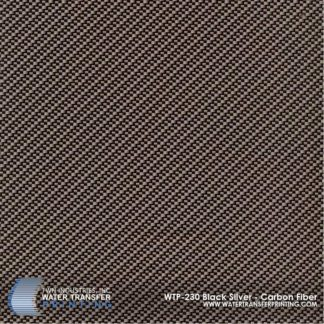 WTP-230 Black & Silver Carbon Fiber Hydrographic Film