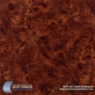 WTP-231 Dark Burlwood Hydrographic Film