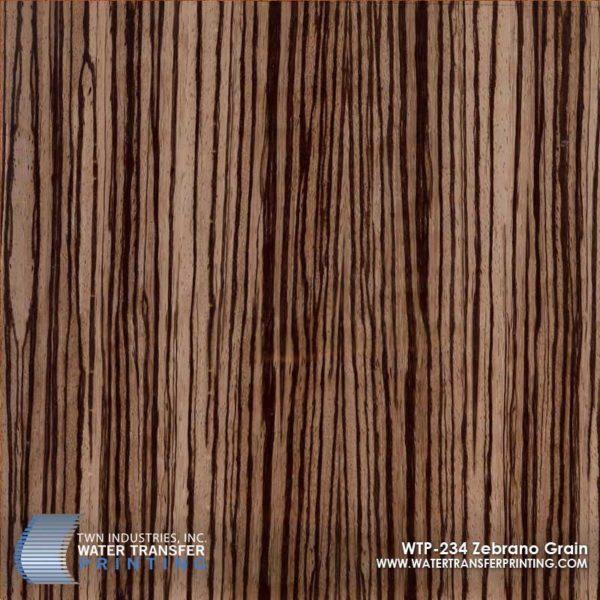 WTP-234 Zebrano Grain Hydrographic Film