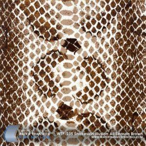 WTP-235 Snakeskin Illusion All Season Brown Hydrographic Film