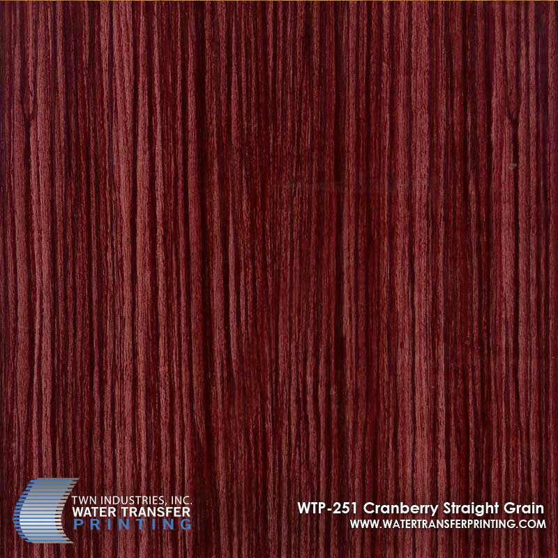 WTP-251 Cranberry Straight Grain Hydrographic Film