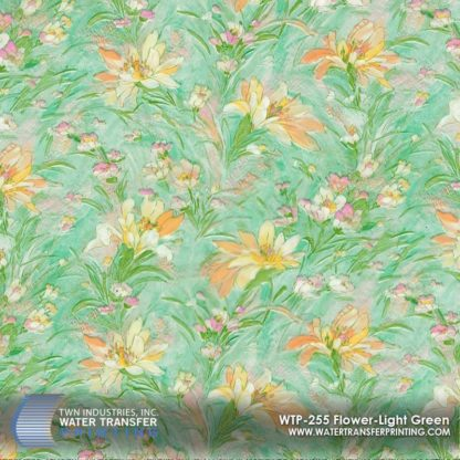 WTP-255 Flower Light Green Hydrographic Film