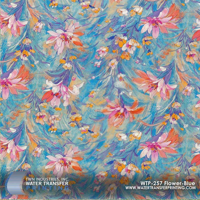 WTP-257 Flower Blue Hydrographic Film