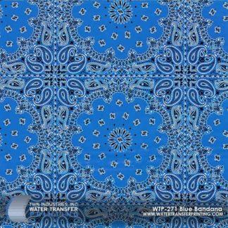 WTP-271 Blue Bandana Hydrographic Film