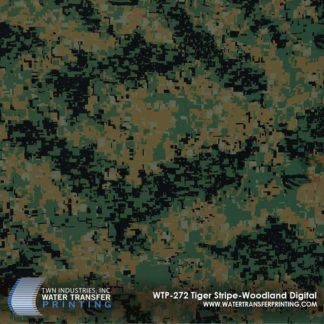 WTP-272 Tiger Stripe Woodland Digital Hydrographic Film
