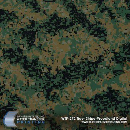 WTP-272 Tiger Stripe Woodland Digital Hydrographic Film