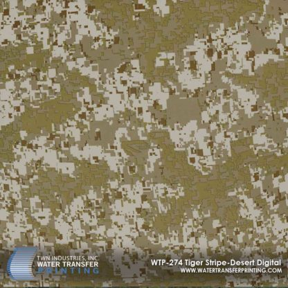 WTP-274 Tiger Stripe Desert Digital Hydrographic Film