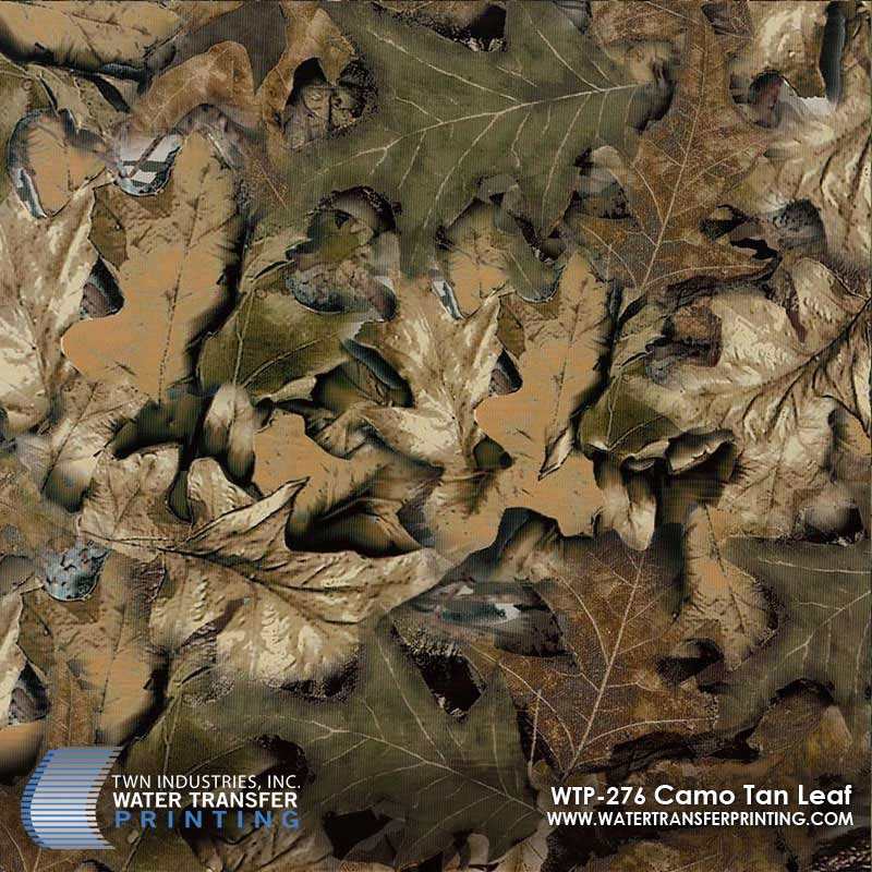 WTP-276 Tan Leaf Camo Hydrographic Film