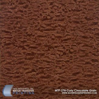 WTP-278 Curly Chocolate Grain Hydrographic Film
