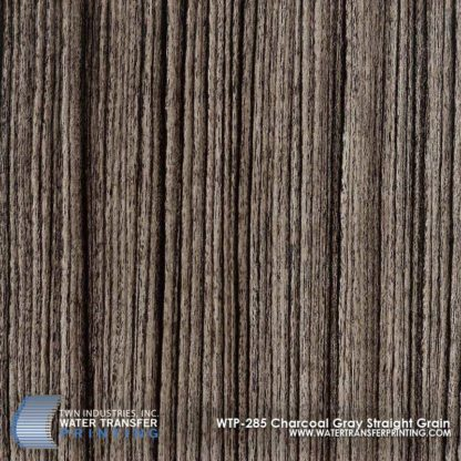 WTP-285 Charcoal Gray Straight Grain Hydrographic Film