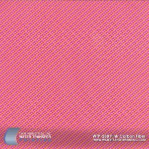 WTP-288 Pink Carbon Fiber Hydrographic Film