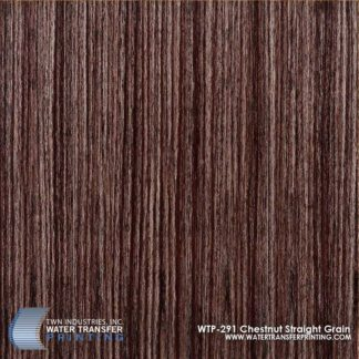 WTP-291 Chestnut Straight Grain Hydrographic Film